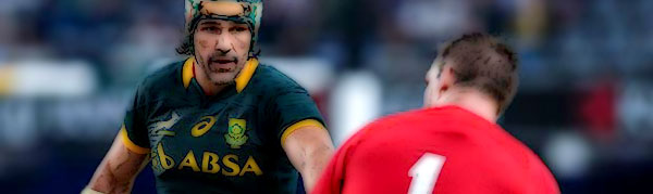 Victor Matfield South Africa Springboks Wales Rugby