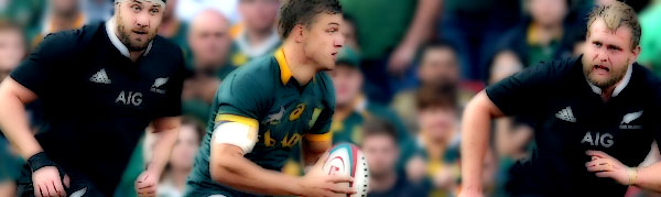 Handre Pollard South Africa Springboks New Zealand All Blacks Rugby Championship