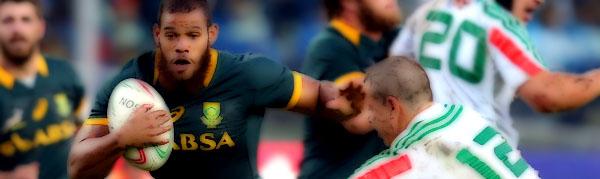 Nizaam Carr Luca Morisi South Africa Springboks Italy Azzurri Rugby