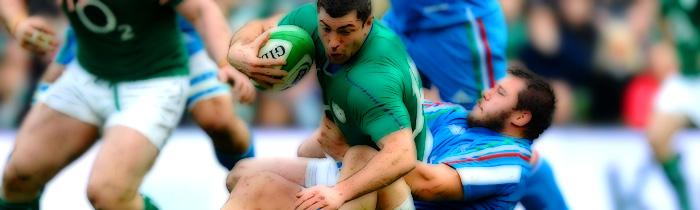 Rob Kearney Alberto de Marchi Italy Azzurri Ireland 6 Six Nations Rugby
