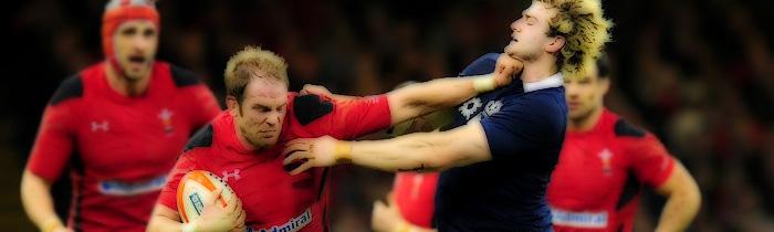 Alun Wyn Jones Richie Gray Wales Scotland 6 Six Nations Rugby