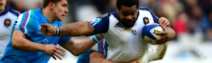 Mathieu Bastareaud Tommaso Allan Italy Azzurri France Les Bleus 6 Six Nations Rugby