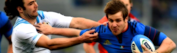 Camille Lopez Luke McLean France Les Bleus Italy Azzurri 6 Six Nations Rugby