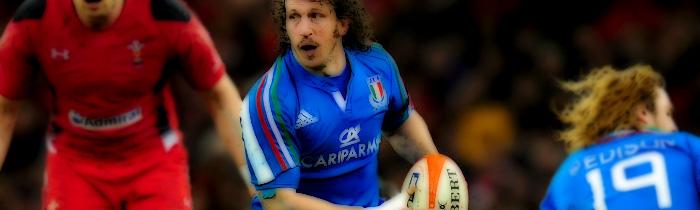 Mauro Bergamasco Italy Azzurri Wales 6 Six Nations Rugby